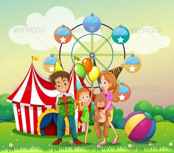 GraphicRiver Family at the carnival 7862514