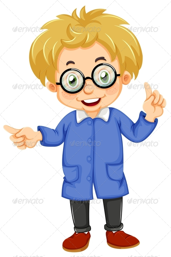 GraphicRiver Kid with glasses 7862608