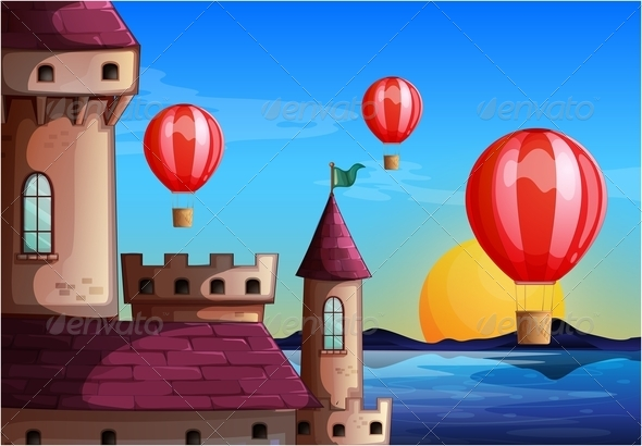 GraphicRiver Balloons and Castle 7862948