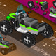 Isometric Quad Bike in Rear View - GraphicRiver Item for Sale