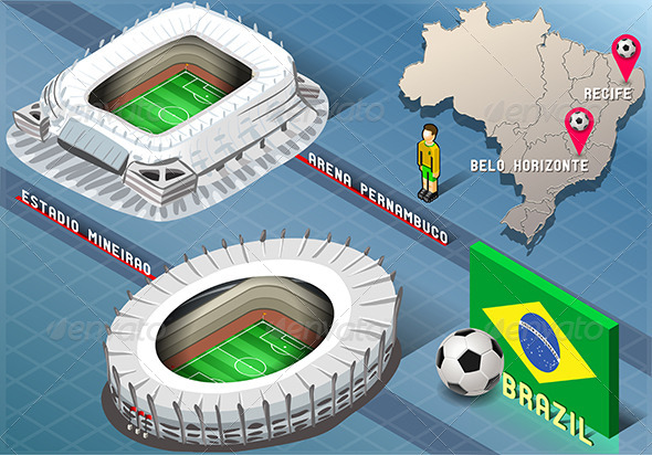 GraphicRiver Isometric Stadium of Recife and Belo Horizonte 7863015