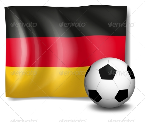 GraphicRiver Soccer ball in front of German flag 7863132