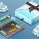 Isometric Arctic Subsea Farm and Tubes - GraphicRiver Item for Sale