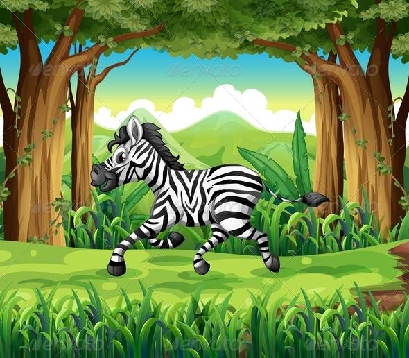 GraphicRiver Zebra in the jungle 7863285