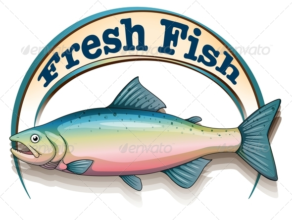 GraphicRiver Fish with Label 7863399