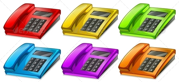 GraphicRiver Colorful telephones 7863445