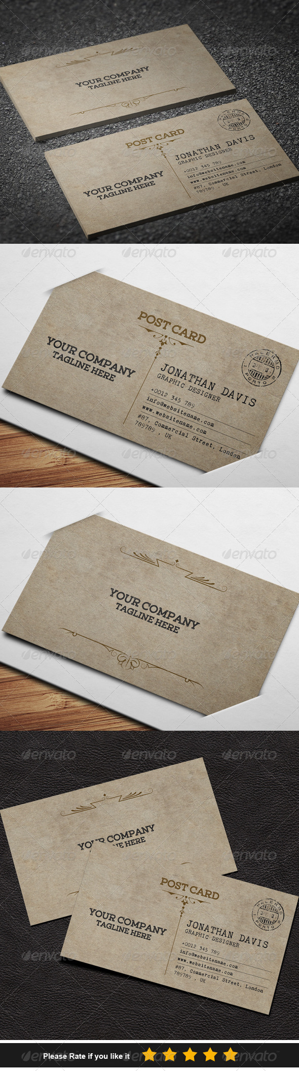 GraphicRiver Postcard Style Business Card 7863558