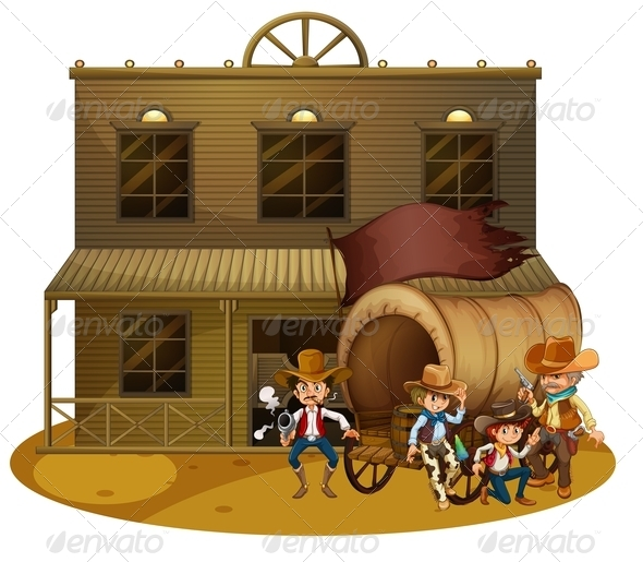 GraphicRiver Western Scene 7863581