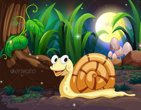 GraphicRiver Snail in the Woods 7863619