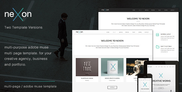 ThemeForest NeXon Multi-Purpose Creative Muse Template 7796213