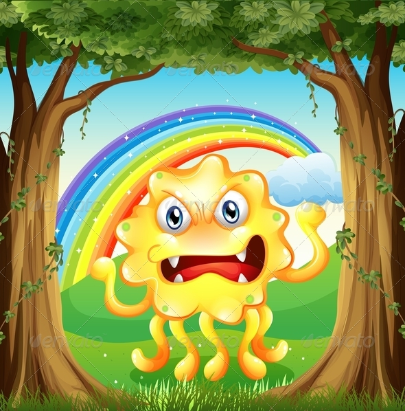 GraphicRiver Angry monster in the jungle 7863634