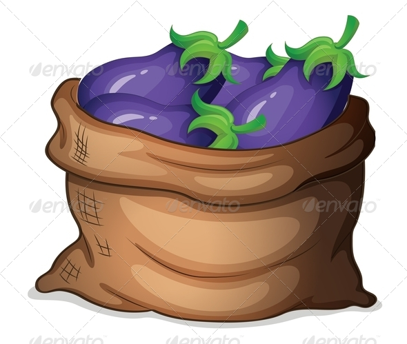 GraphicRiver Sack of Eggplants 7863697