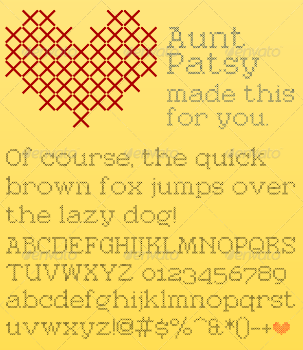 Aunt Patsy - Decorative Fonts
