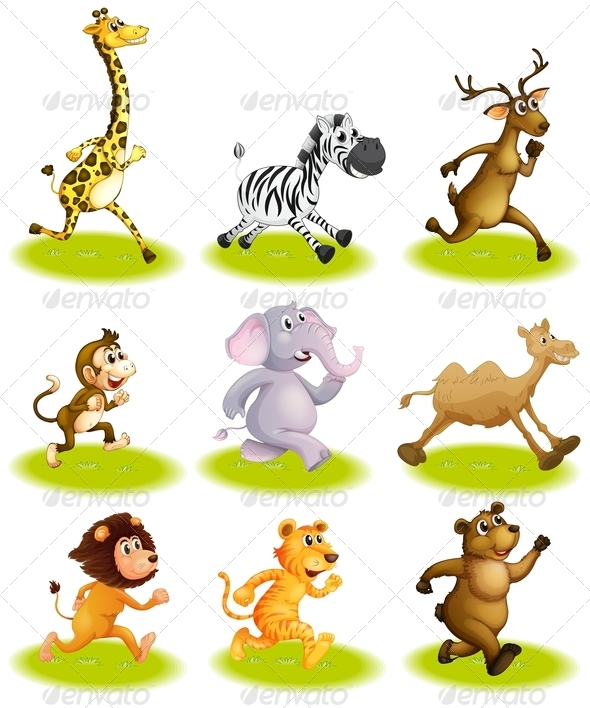GraphicRiver Running Animals 7863709