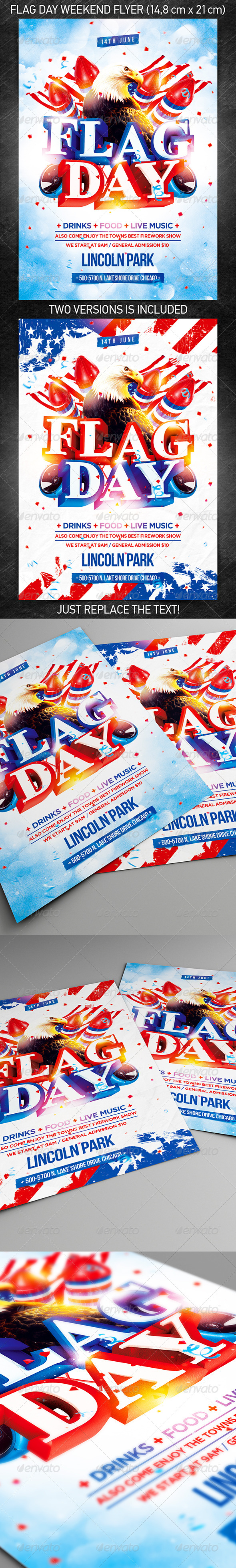 Flag Day Weekend Party Flyer