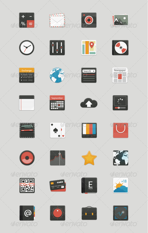 GraphicRiver 32 App Icons 7848307