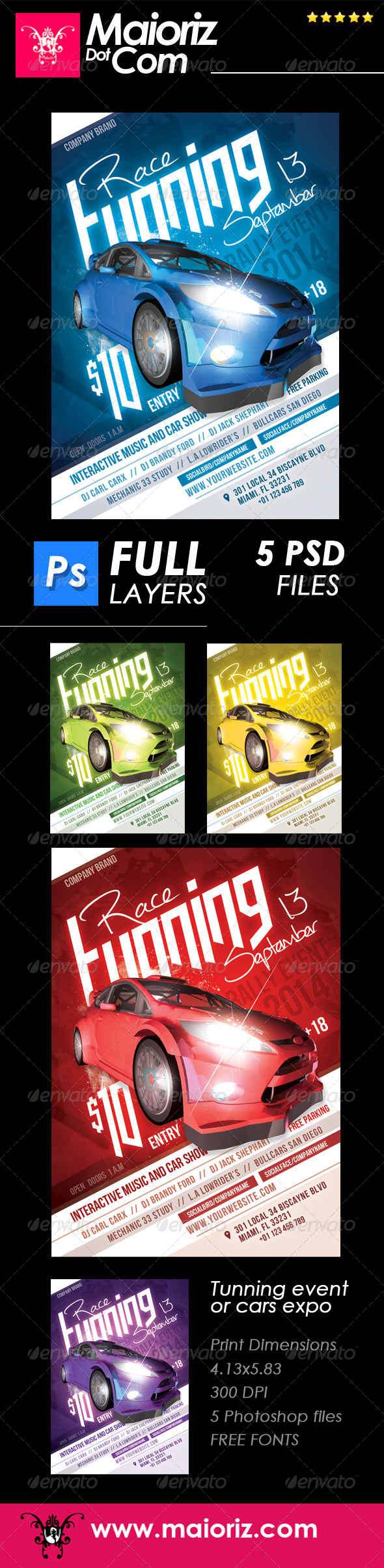 GraphicRiver Tuning Cars Flyer Event 7863903