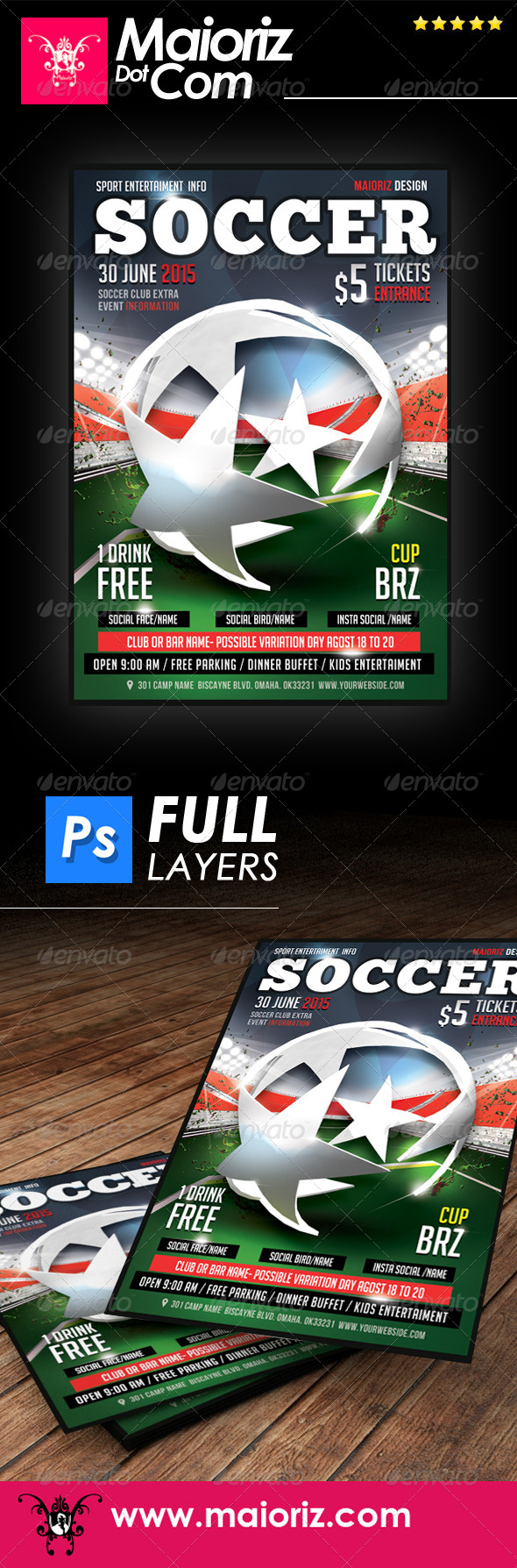 GraphicRiver Soccer Champion Flyer 7846398