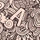 3 Doodles Letters Seamless Pattern - GraphicRiver Item for Sale