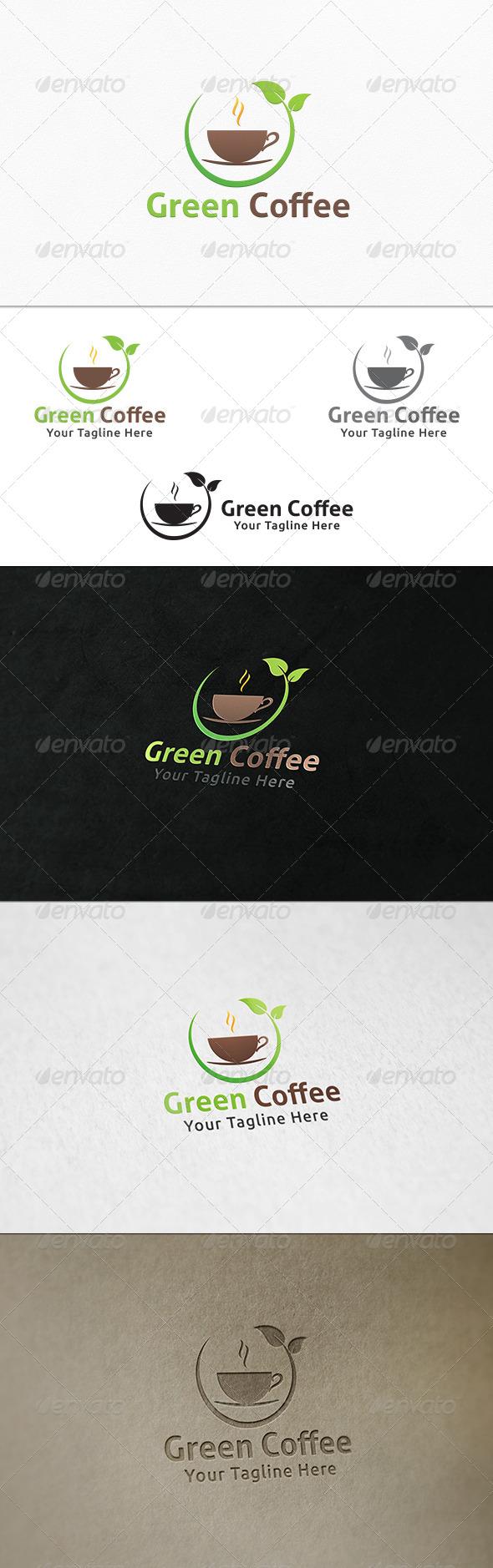 GraphicRiver Green Coffee Logo Template 7863977