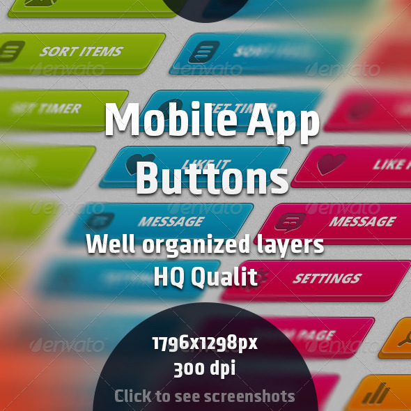 GraphicRiver Mobile App Buttons 7864104