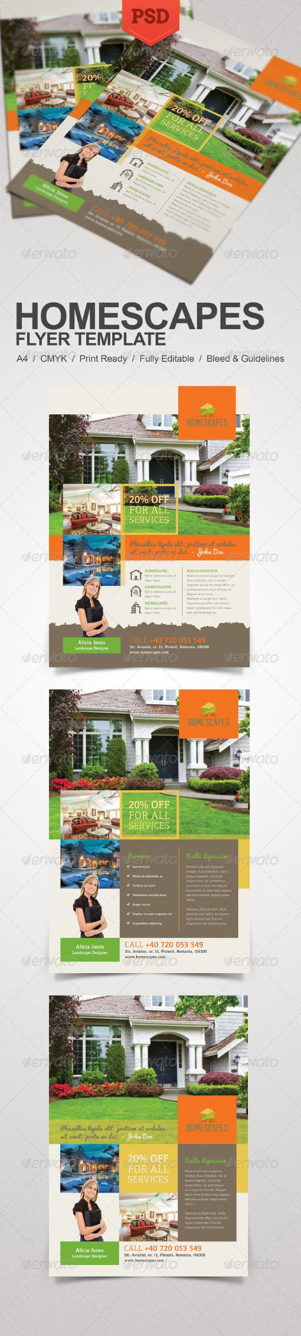 GraphicRiver Real Estate and Homescapes Flyer 7864110