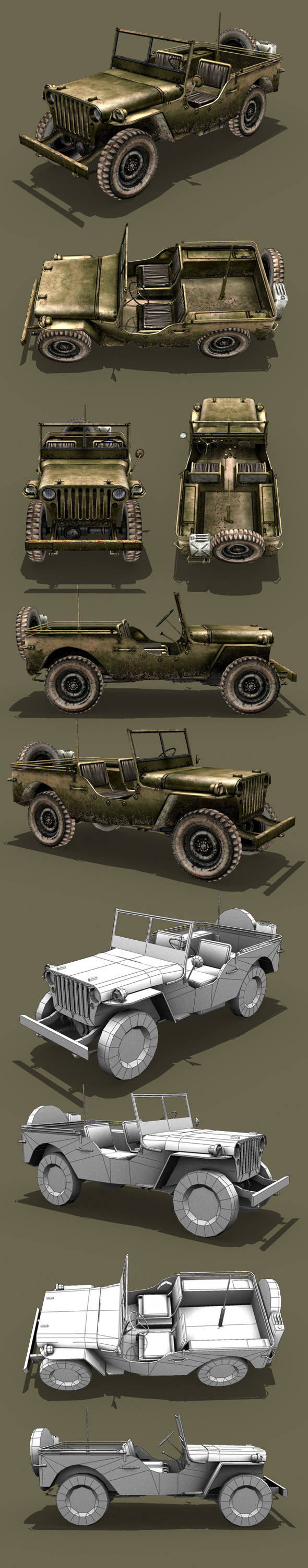 3DOcean Willys Jeep 7864203
