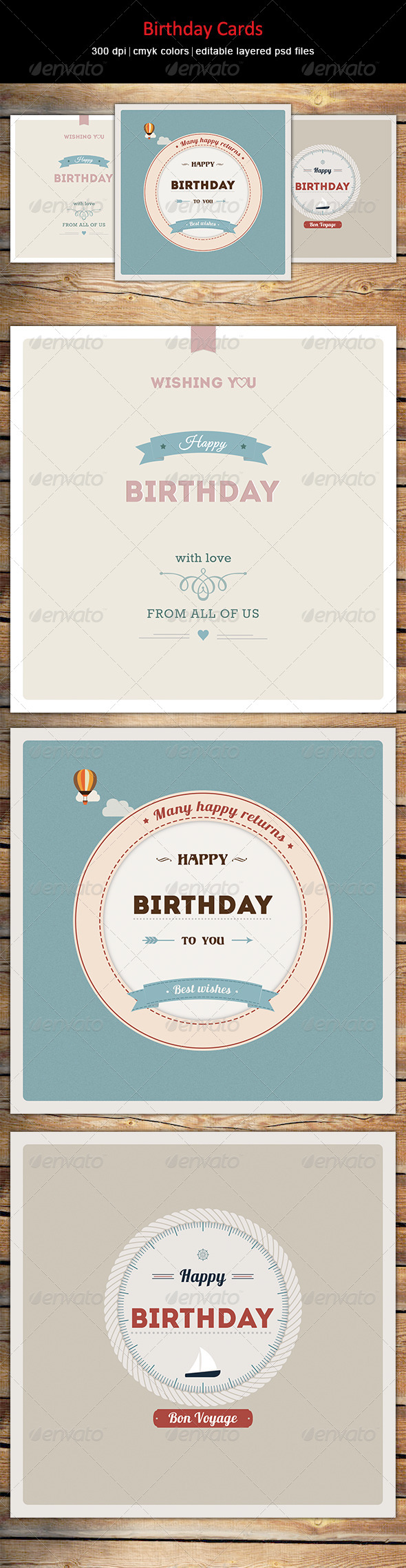 GraphicRiver Birthday Cards 7864255