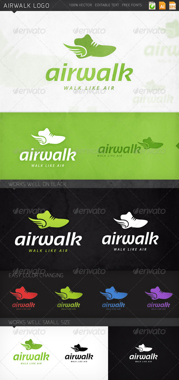 GraphicRiver Airwalk Logo 7864309