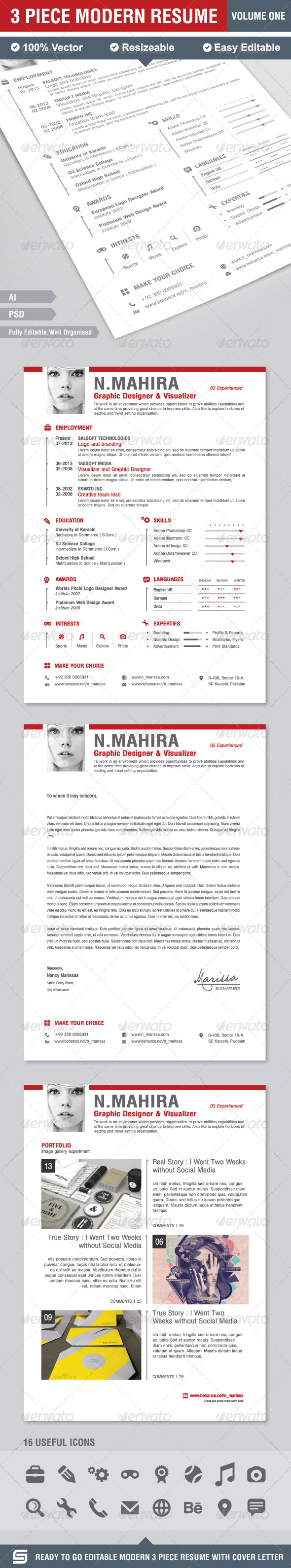 GraphicRiver Resume CV 7836479