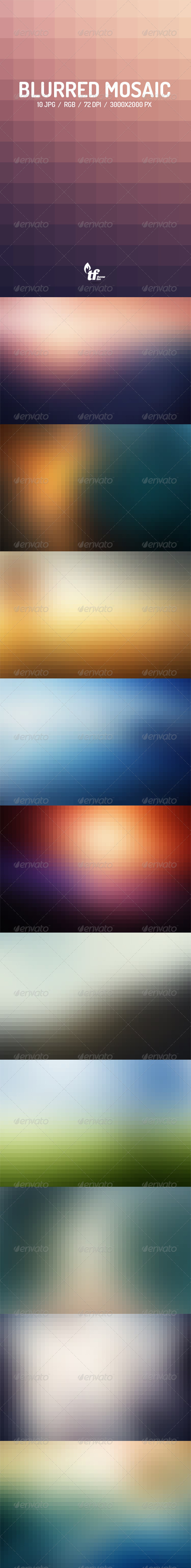 GraphicRiver Blur Mosaic Backgrounds 7864563