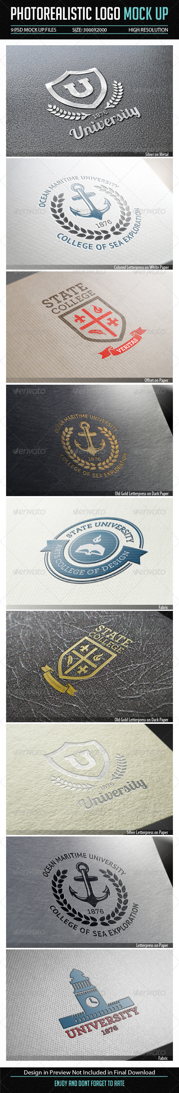 GraphicRiver Photorealistic Logo Mock Up 7864572