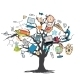 Education Icon Doodle Tree - GraphicRiver Item for Sale