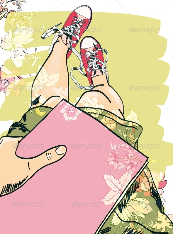 GraphicRiver Girl Legs and Gumshoes Sketch 7864644
