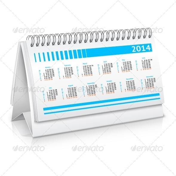 GraphicRiver Desk Calendar Mockup 7864652