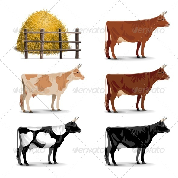GraphicRiver Cow Icons 7864653