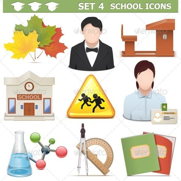 GraphicRiver School Icons Set 4 7864665