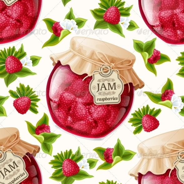 GraphicRiver Raspberry Jam Seamless Pattern 7864670