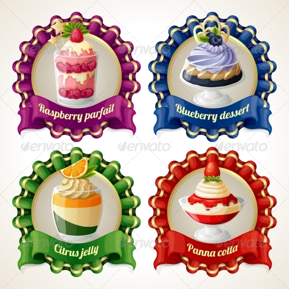 GraphicRiver Sweets Ribbon Banners 7864675