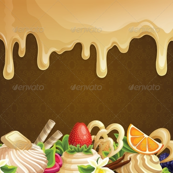GraphicRiver Caramel Sweets Background 7864678