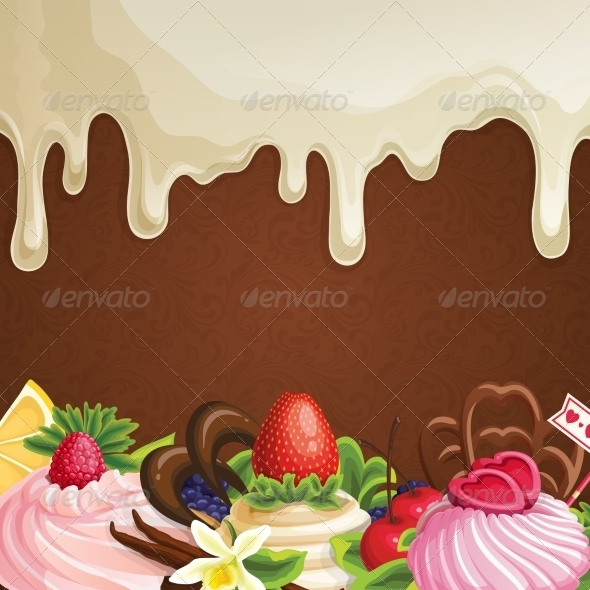 GraphicRiver White Chocolate Sweets Background 7864680