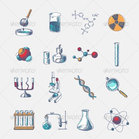 GraphicRiver Chemistry Icons Set 7864682