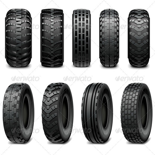 GraphicRiver Truck and Tractor Tires 7864683