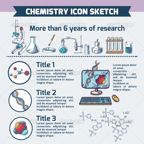 GraphicRiver Chemistry Research Infographic Sketch 7864684