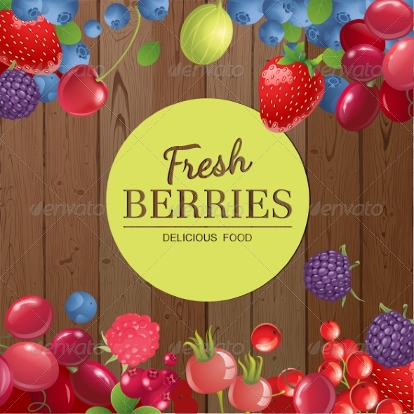 GraphicRiver Background with Berries 7864712