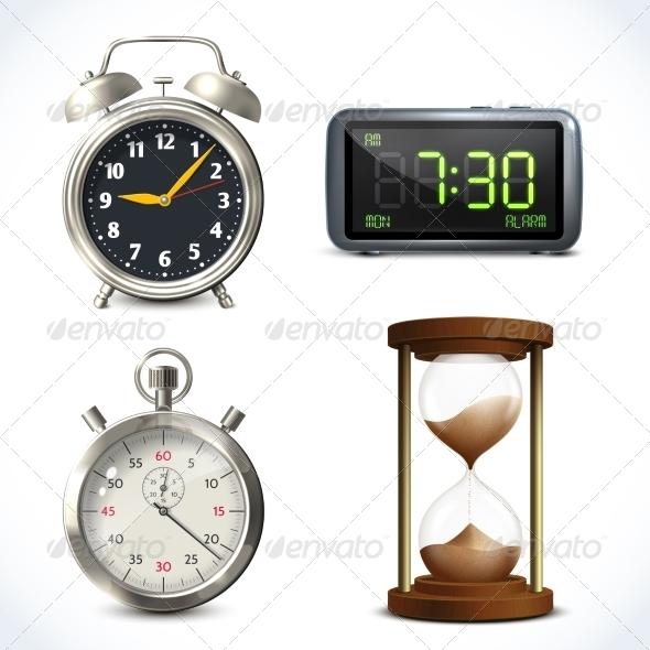 GraphicRiver Realistic Clock Set 7864714