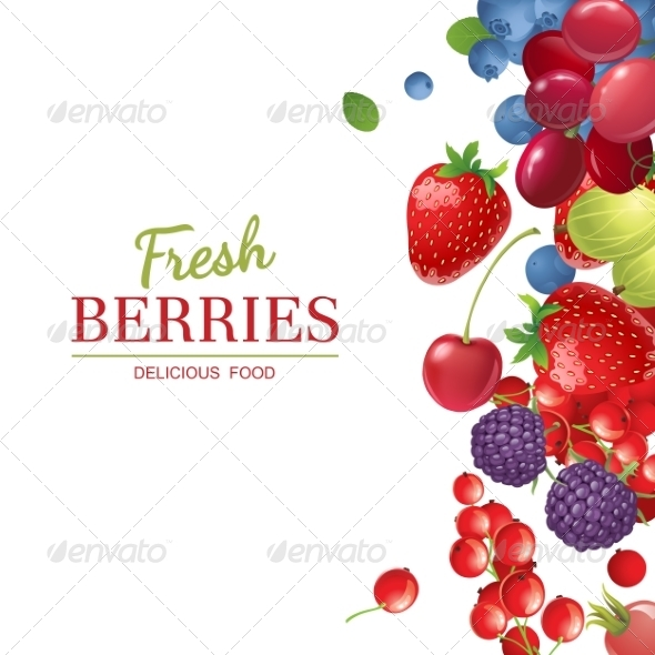 GraphicRiver Background with Berries 7864762
