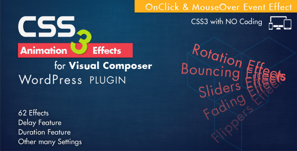 CodeCanyon Animation CSS3 Effects Visual Composer Wordpress 7864770