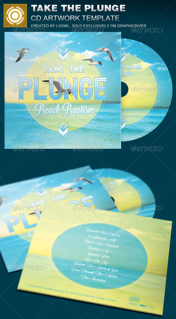 GraphicRiver Take the Plunge CD Artwork Template 7864846