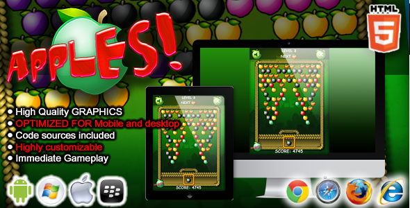 CodeCanyon Apples HTML5 Game 7864880